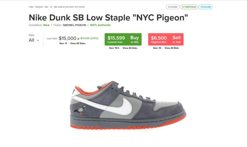 pigeon dunk