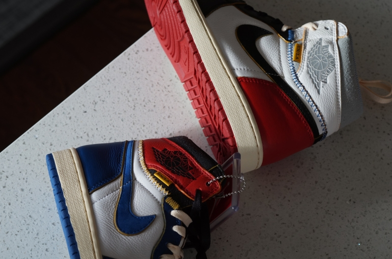 Nike Air Jordan 1 Union Black Toe Storm blue