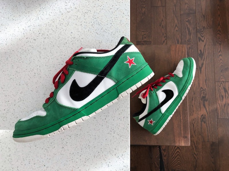 new concept b9fed ff800 I Copped Nike Dunk Heineken SBs for $210 USD!!